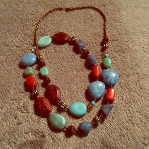Maurice's Multicolored Stone Necklace